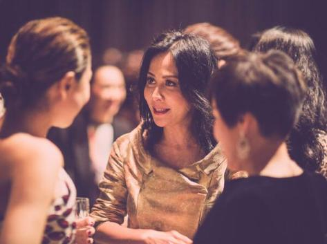 Carina Lau mingling with guests following the Burberry show in Shanghai - Executive Salad