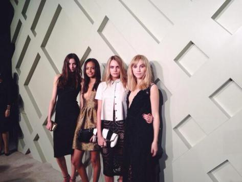 Cara Delevingne, Suki Waterhouse, Malaika Firth & Matilda Lowther arrive at the Burberry London in Shanghai event - Executive Salad