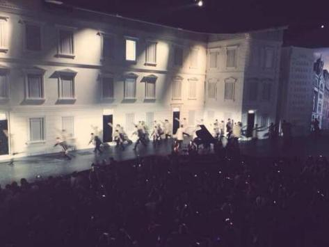 The city comes to life - dancers on stage at the Burberry London in Shanghai event - Executive Salad