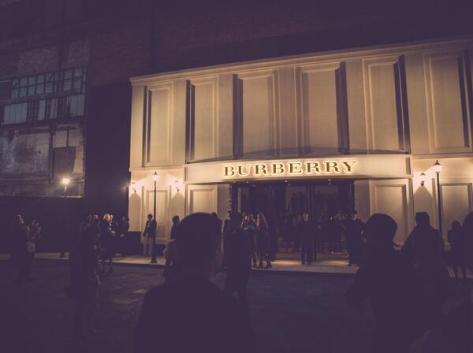 The Burberry event space awaiting VIP arrivals before the London in Shanghai event last night - Executive Salad