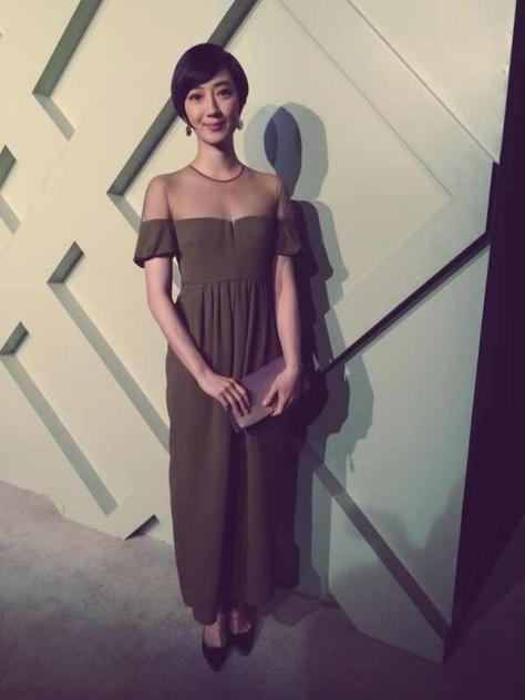 Moments before the Burberry London in Shanghai event, Taiwanese actress Guey Lun Mei arrives on the red carpet - Executive Salad