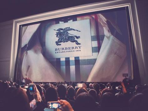 Burberry Heritage – a cinema screen reveals the history of the iconic trench coat at the Shanghai event last night - Executive Salad