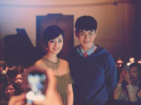Guey Lun Mei and Ke Zheng Dong pose for pictures at the Burberry London in Shanghai event last night - Executive Salad
