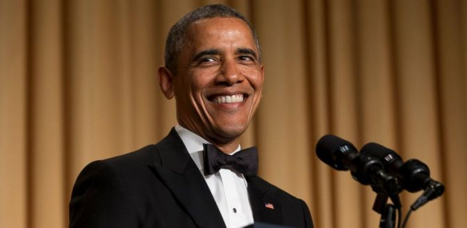 President Obama Ribs Press at Correspondents' Dinner