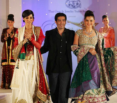 Manish Malhotra with Gauhar Khan - Executive Salad