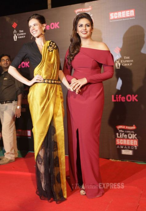 Kalki and Huma wearing Nikhil Thampi - Executive Salad