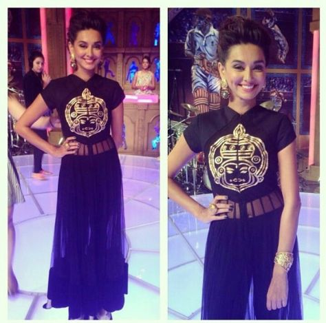 Shibani wearing Nikhil Thampi - Executive Salad