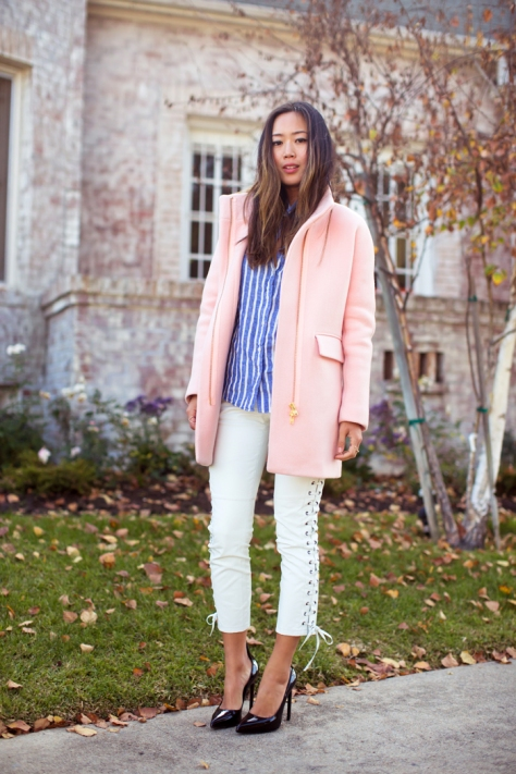 Song of Style - Pink Coat - Saint Laurent - Executive Salad