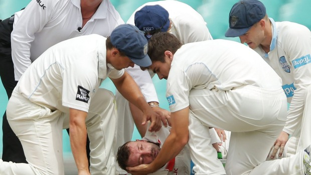 Cricketer Phil Hughes in intensive care after being hit in the head with cricket ball